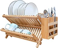 GENOVESE Bamboo Dish Drying Rack