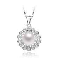 【Sesedior】925純銀-女王風采時尚珍珠項鍊