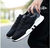 รองเท้าออกกำลังกาย รองเท้าผ้าใบแฟชั่นชาย [ KJ S1.18 ] สีดำ