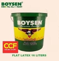 BOYSEN Paint Flat Latex White 16 Liter [Limit your order 1 Pail Max]