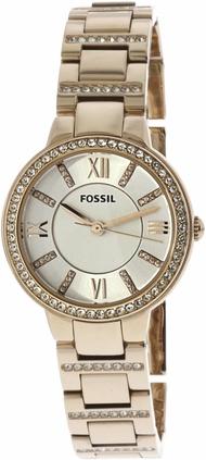Fossil Women's Virginia ES3284 Gold Stainless-Steel Japanese Quartz Fashion Watch