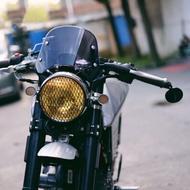 復古摩托車改裝擋風鏡 風罩 凱旋 CB400 CB1000 野狼 KTR MY150 雲豹 cafe racer