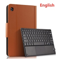Cover For Samsung Galaxy Tab S6 Lite 10.4 Wireless Bluetooth Touch Keyboard case For SM P610 P615 P618 PU Leather stand Funda