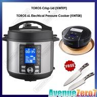 BUFFALO TOROS 6L electrical pressure cooker + AIR FRYER | FREE SANTOKU Knife + Chef Knife