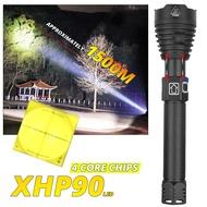 超級強大的XHP90 LED手電筒變焦戰術手電筒USB可充電防水露營燈