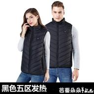 夯貨折扣! 智能溫控電熱馬甲男女款棉背心冬季充電發熱保暖加熱衣服坎肩外套