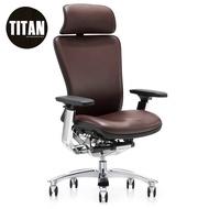 TITAN Office Ergonomic Chair Full Leather Swivel Gaming Chair (Office Chair/Office Chair Base/Kerusi Pejabat)
