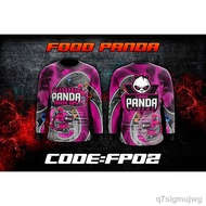 ▤FOOD PANDA Full Sublimation Jersey Shirt Long Sleeves Thai look