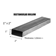 "MILD STEEL/ BESI HOLLOW (BESI) 1"" x 2"" RECTANGULAR HOLLOW - (TEBAL 1.0MM +-)#bs #DIY"