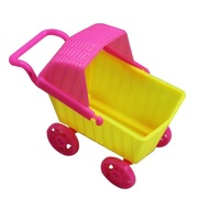 Redcolourful Dollhouse Mini Trolley Simulation Shopping Cart for Dolls Children Baby Doll Accessories Height:as shown