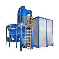 Full Automatic 40ft Container Sand Blasting Room Air Blast Room