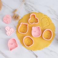 ▪6件組▪角落生物3D立體卡通糖霜餅乾模/模具/月餅模/ 塑料按壓式曲奇餅乾模 角落生物餅乾模具狗狗救援餅乾模具