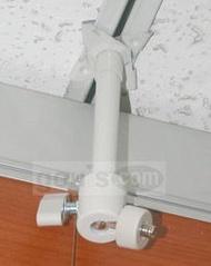 [馬上出貨] 攝影機/監視器支架加輕鋼架蝴蝶夾 - 一般型, 長度13cm