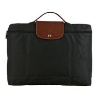 【LONGCHAMP】Longchamp 摺疊萬用手提公事包(槍灰)