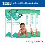 pampers pampers drypers♡ ((OFFER!! PROMOTION😘😘😘))Pampers Tesco Fred &Flo tape diapers combo 4 packs