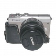 Hard PU Leather Camera Metal Base Case for Canon EOS M100 with Open Cover(M100)