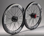 Brompton for 349 Wheel Set Joseph Kuosac C38c Carbon Fiber Wheel Set Wheel Set