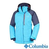 Columbia哥倫比亞 女款-Omni-HEAT鋁點保暖防水連帽外套-藍色
