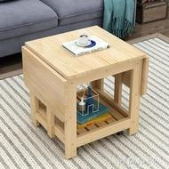 茶几 折疊茶幾餐桌兩用伸縮實木邊幾簡約現代客廳迷你小戶型多功能茶桌 MKS