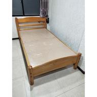 【土城二手市集】9成新~粗勇圓柱型3.5尺單人床架加大 實木單人床 原木床架 3尺半床架 兒童床架 嬰兒床 單人加大