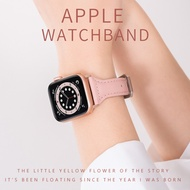 Original ใช้ Iwatch6สายคล้อง Applewatch5ความคิดสร้างสรรค์-สี่-SE สายคล้องกลุ่มแอปเปิ้ลหนังหนังบุคลิกภาพฤดูร้อน Fine Girl 40-42-44-40มม.