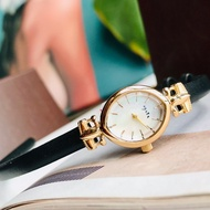 Japan agete genuine ladies watch white butterfly shell small disc vintage watch cow leather strap