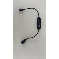 碳素加熱片的電子溫控器 5V溫度控制器.調溫開關. 加熱片溫度控制器 黑殼 用在USB加熱片 一條