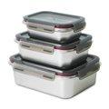 三件式不鏽鋼保鮮盒組 SP-2106