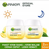 GARNIER Light Complete Paket Krim Siang 50ml + Krim Malam 50ml