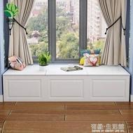 瀾?臥室飄窗櫃儲物櫃防曬窗邊櫃歐式矮櫃地櫃陽台收納置物櫃定制 -愛尚優品