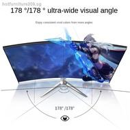 ┇◑Amoi 24-inch ultra-thin curved high-definition computer monitor office home Internet cafe desktop IPS4 screen gaming HDMI LCD 144HZ borderless monitoring non-used