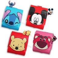 迪士尼授權 Airpods 皮革質感 藍牙耳機盒保護套 1/2代通用款 附扣環 維尼 米奇 史迪奇 熊抱哥米奇