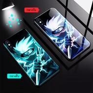 Case Apple Naruto เคสนารูโตะเรืองแสง/เคสซาสึเกะเรืองแสง/เคสคาคาชิเรืองแสง/เคสแสงอุษาเรืองแสง/เคสอิทาจิเรืองแสง เคสกระจกเรืองแสง ขอบยางTPU งานกระจก  For IPhone I7P/I8P/IX/XS/XR/XsMax/11/11Pro/11ProMax