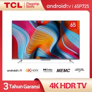The First Android 11 TV TCL 65 inch Smart TV - Android 11.0 - 4K UHD - Dolby Vision - Atmos - MEMC - HANDS-FREE VOICE CONTROL - HDMI 2.1 - Frameless Design - Netflix & Youtube (Model 65P725)