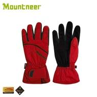 《低溫特報》【Mountneer 山林 Primaloft防水手套《紅/深灰》】12G01/保暖手套/騎車/防水手套/賞雪手套