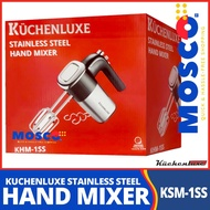 Kuchenluxe Stainless Steel Hand Mixer KHM-1SS   Quick & Hassle-Free Shopping   Accessories Included