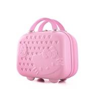 現貨粉紅色可7-11🎀Hello kitty 🎀🎀14吋手提行李箱。也有宅配20吋粉紅色母子箱跟24吋紅色母子箱