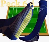 V9012 ถุงเท้าฟุตบอล แพ็ค 6 คู่ สีดำ FreeSize + มี ใบกำกับภาษี +