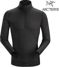 Arcteryx 始祖鳥 登山排汗衣/半門襟長袖排汗衣 男款 16254 Phase SL Zip LS 黑 Arc'teryx