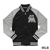 MLB-邁阿密馬林魚隊毛巾布薄繡花棒球外套-黑 (男)