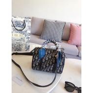 Dior/迪奧     老蘤圓桶包  枕頭包  單肩斜挎包   女包