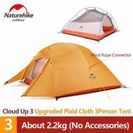Naturehike Cloud Up 3 (Upgraded) Ultralight เต็นท์ 3คน น้ำหนักเบา Freestanding Tent พกพาสะดวก
