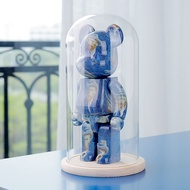 Bearbrick Lego Acrylic Showcase Box Building Blocks Bear Figure Model One-Piece Transparent Dust Cover Bearbrick