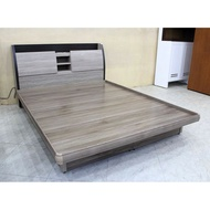 【歐風別館】東芝五尺灰橡色雙人床頭箱【掀床~USB~基隆至台中免運費】