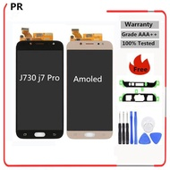 "Amoled For SAMSUNG GALAXY J7 2017 LCD J7 Pro J730 Display J730F Touch Screen Digitizer Panel Replacement For 5.5"" J7 Screen LCD - intl"