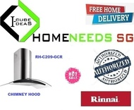RINNAI RH-C209-GCR Chimney Hood |LED Touch Control | MULTI BRAND | FREE DELIVERY | AUTHORIZED DEALER