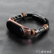 手環腕帶 小米手環帶適用小米4手環腕帶小米手環3/4復古金屬替換帶nfc版磁吸定制不 交換禮物
