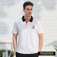 Nautica COMPETITION經典素色POLO衫-白色