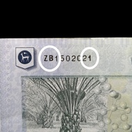 Malaysia RM50 50 Ringgit 11th Series ZB replacement Banknote Printing error ZB1502021
