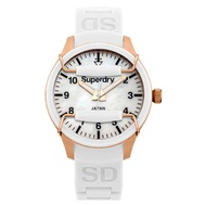 Superdry Scuba SYL128W Analog Quartz White SIlicone Womens Watch